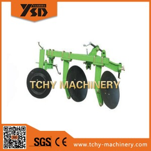Agricultural machine disc plough for walking tractor